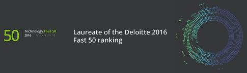 Laureate of the Deloitte 2016 Fast 50 ranking