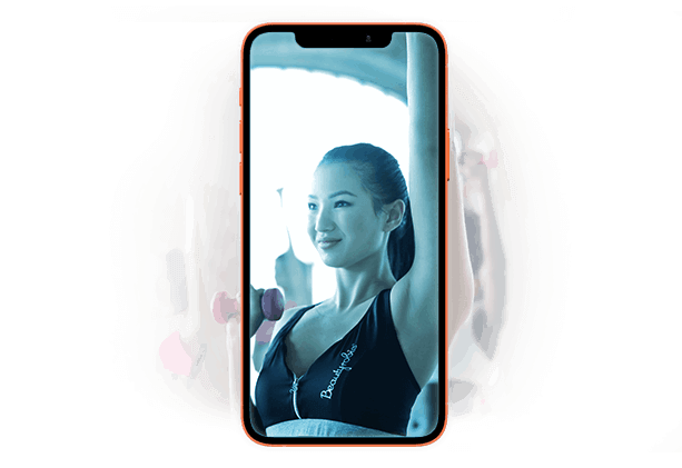 fitness studio online case study - sample mobile app screenshot