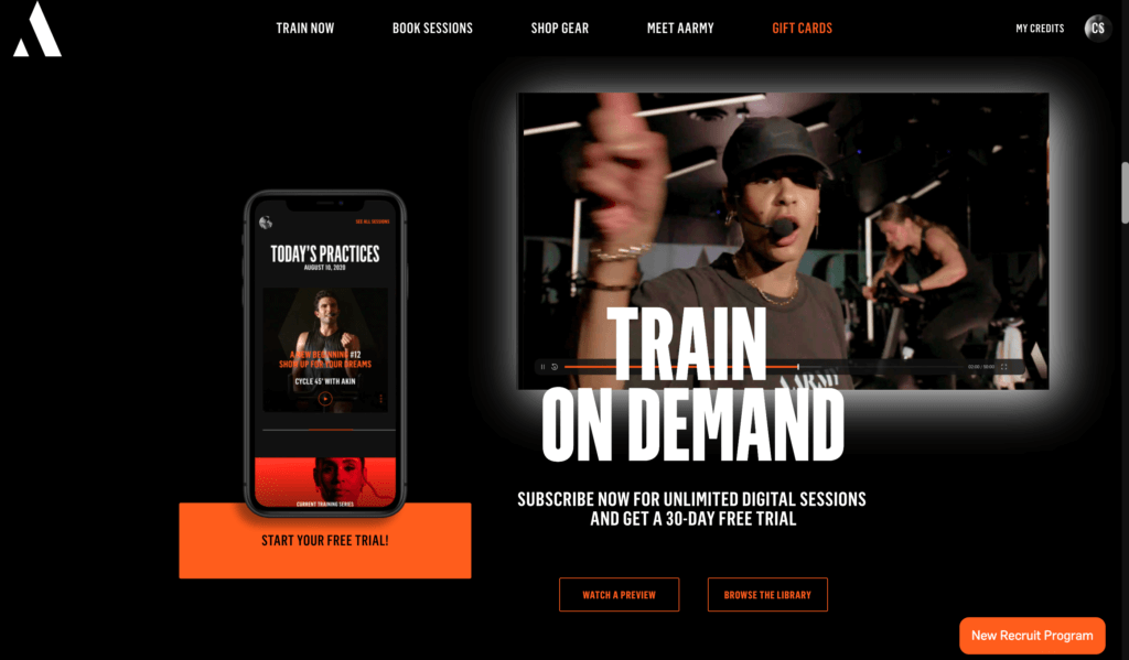 Building online fitness applications - AArmy app