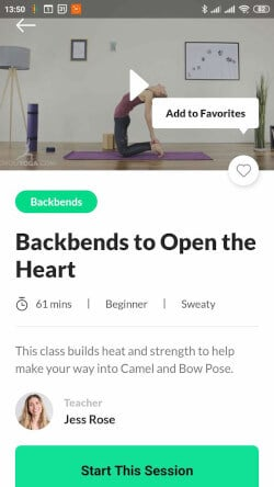 Building online fitness applications - Do You app - add to favorites