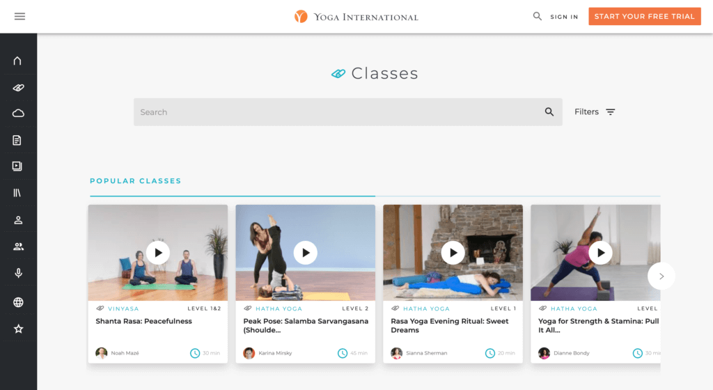 Building online fitness applications - Yoga International - yoga fitness app